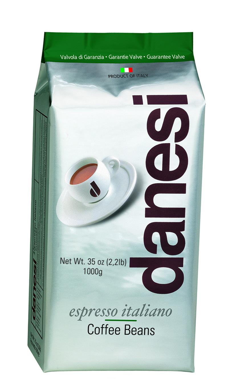 Онлайн каталог PROMENU: Кофе Emerald в зернах Danesi, 1 кг, вакуумный пакет с клапаном, зеленый Danesi 1010125_New