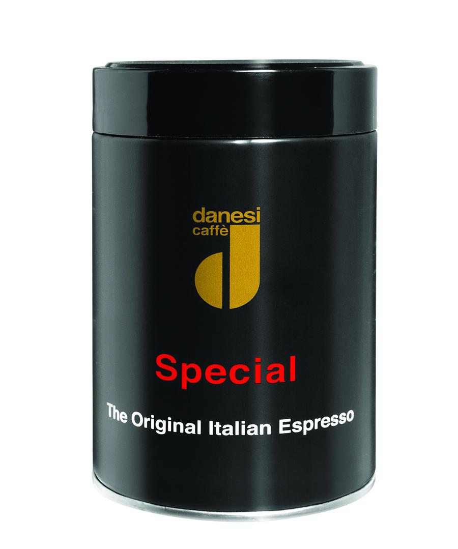 Онлайн каталог PROMENU: Кофе Special молотый Danesi, 0,25 кг, жестяная банка, черный Danesi 2010046_New