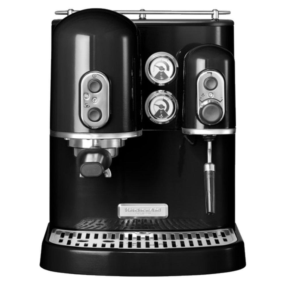 Онлайн каталог PROMENU: Кофемашина рожковая с 2 бойлерами KitchenAid ARTISAN, черный                               5KES2102EOB