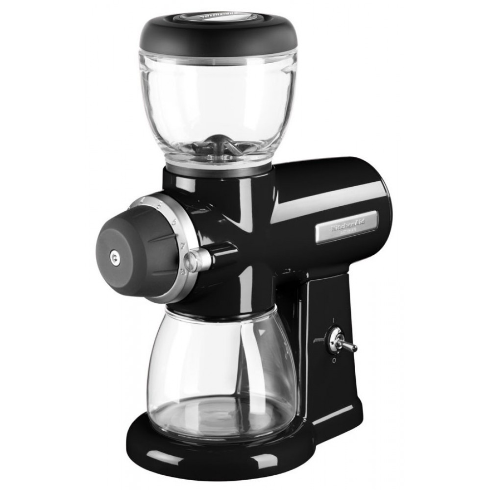 Онлайн каталог PROMENU: Кофемолка жерновая KitchenAid ARTISAN, 15 степеней помола, черный                               5KCG0702EOB