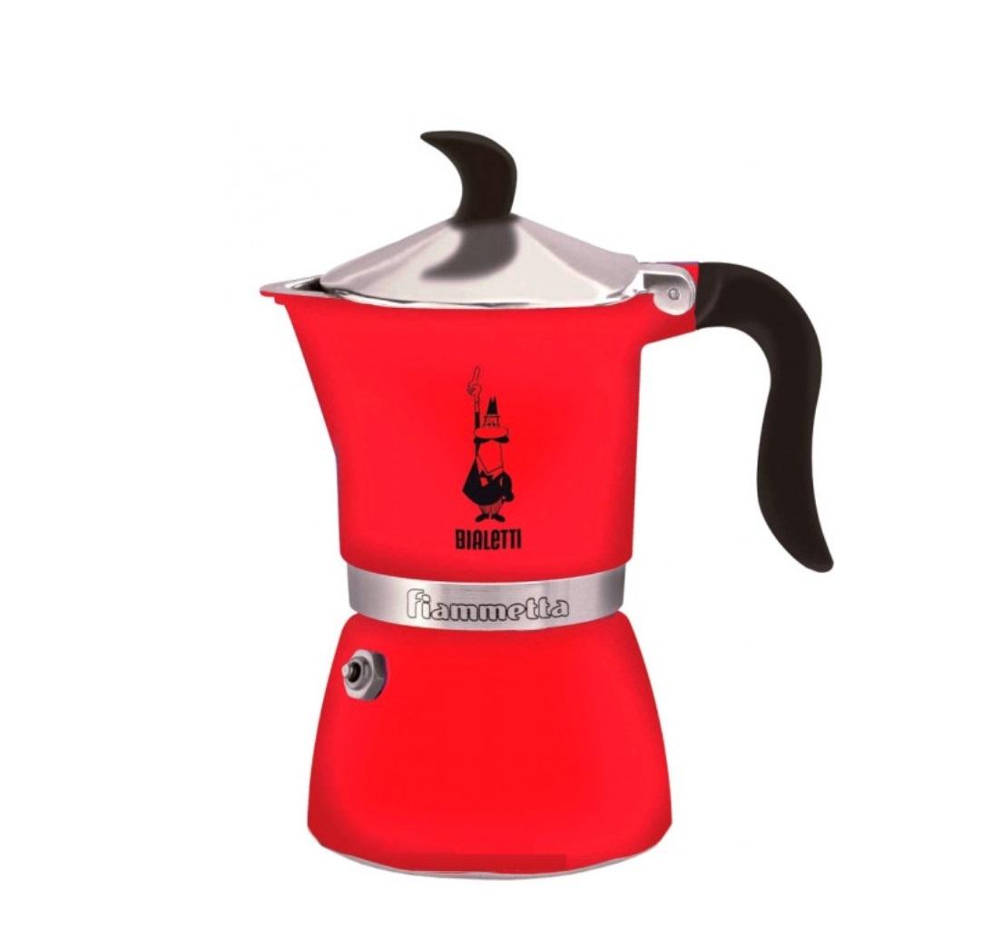 Онлайн каталог PROMENU: Кофеварка гейзерная Bialetti Fiammetta, на 3 чашки, красная                               0005342