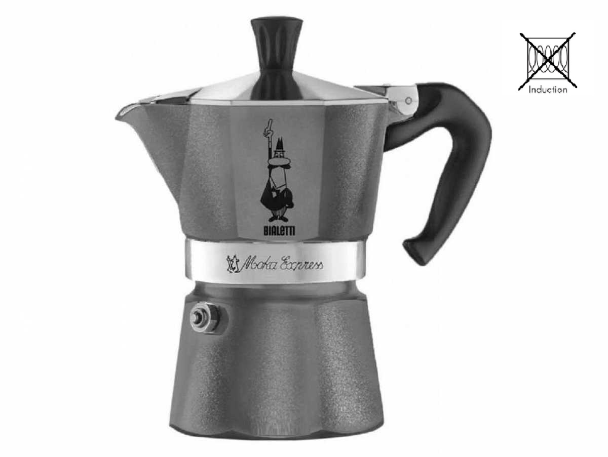 Онлайн каталог PROMENU: Кофеварка гейзерная Bialetti MOKA EXPRESS EMOTION, на 3 чашки                               0005312