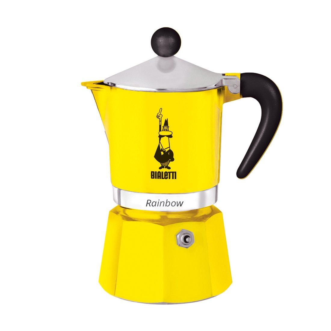 """Онлайн каталог PROMENU: Кофеварка гейзерная """"Rainbow"""" Bialetti RAINBOW, на 3 чашки, желтый                               0004982"""