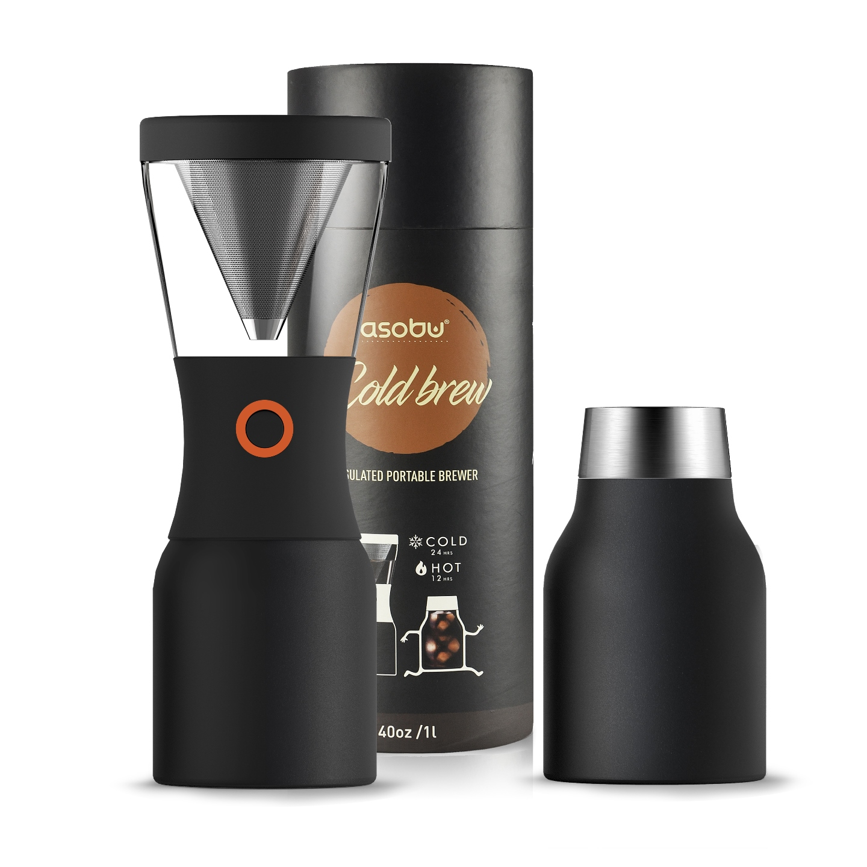 Кофеварка портативная Asobu COLD BREWCOFFEE, 1,1 л, черный Asobu KB900 BLACK фото 2