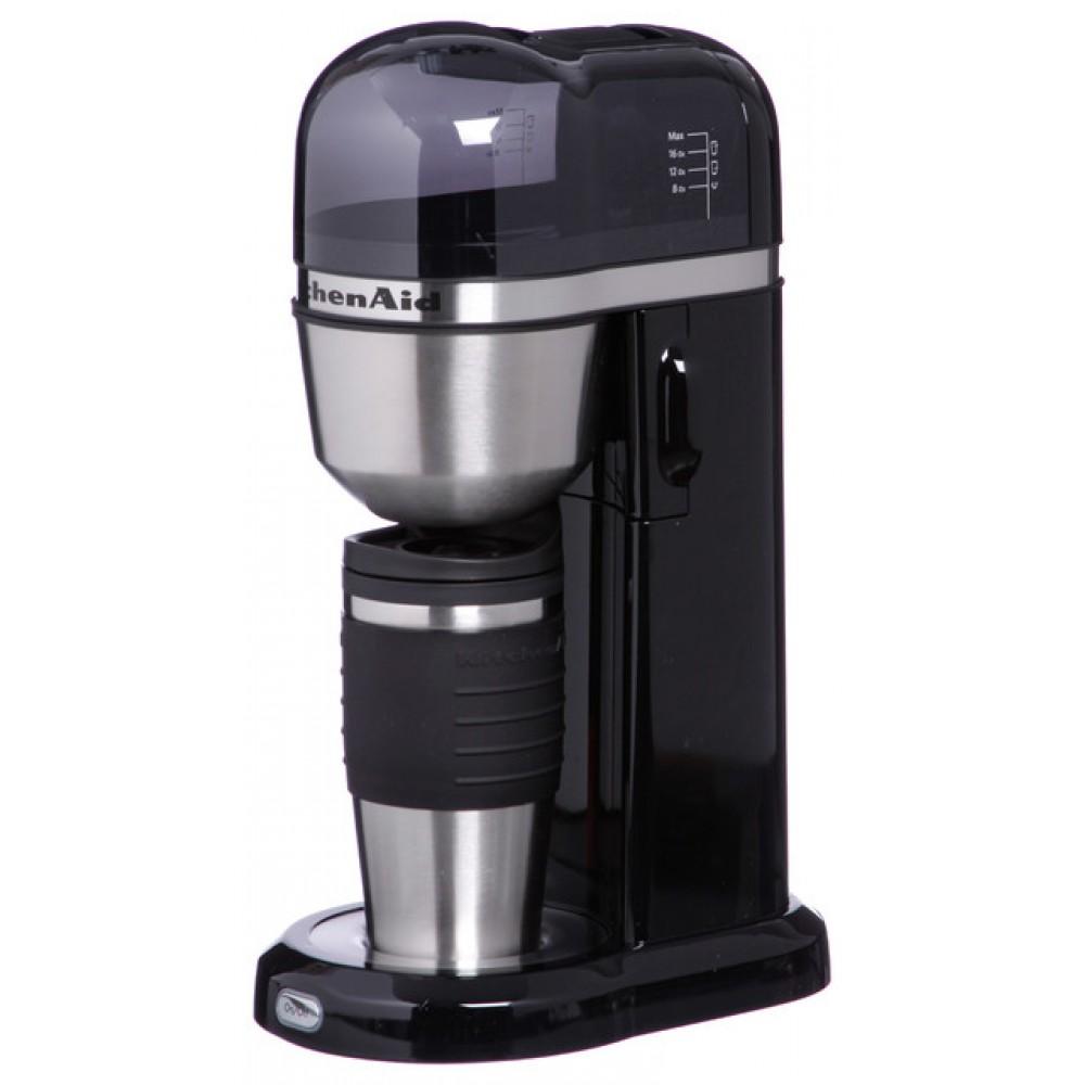 Онлайн каталог PROMENU: Кофемашина персональная заливного типа с кружкой-термосом (0,54 л) KitchenAid, объём 1 л, черный                               5KCM0402EOB