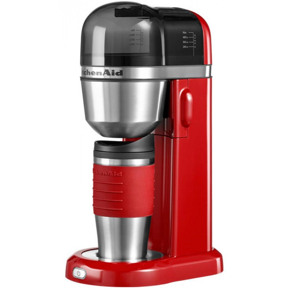 Онлайн каталог PROMENU: Кофемашина персональная заливного типа с кружкой-термосом (0,54 л) KitchenAid, объём 1 л, красный                               5KCM0402EER
