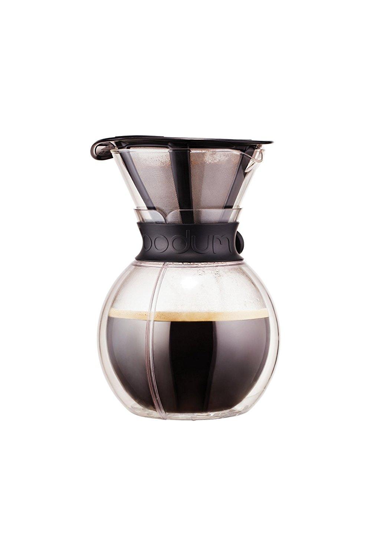 Онлайн каталог PROMENU: Кофейник с двойными стенками Bodum POUR OVER, объем 1 л, черный                               11736-01S