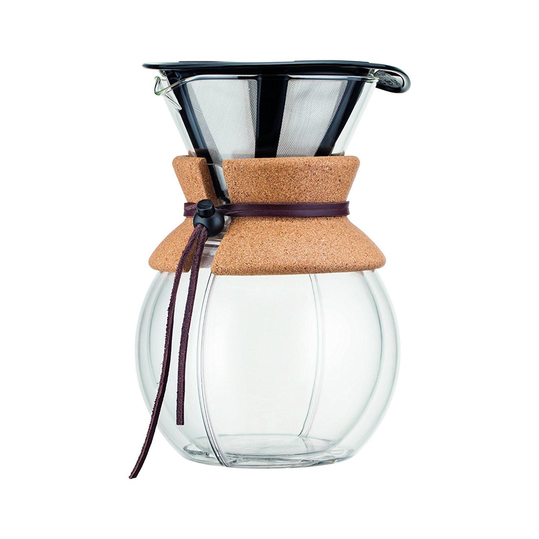 Онлайн каталог PROMENU: Кофейник с двойными стенками Bodum POUR OVER, объем 1 л, с пробковым держателем                               11736-109S