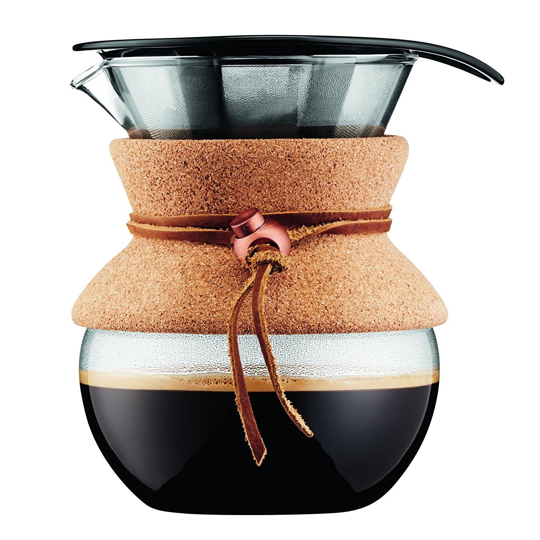 Онлайн каталог PROMENU: Кофейник с фильтром Bodum POUR OVER, объем 0,5 л, пробковый держатель                               11592-109