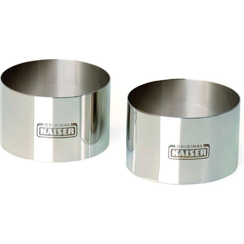 Онлайн каталог PROMENU: Набор колец для десертов Kaiser Backform PICCANTINI SNACKS, диаметр 10 см, серебристый, 2 штуки Kaiser Backform 645766
