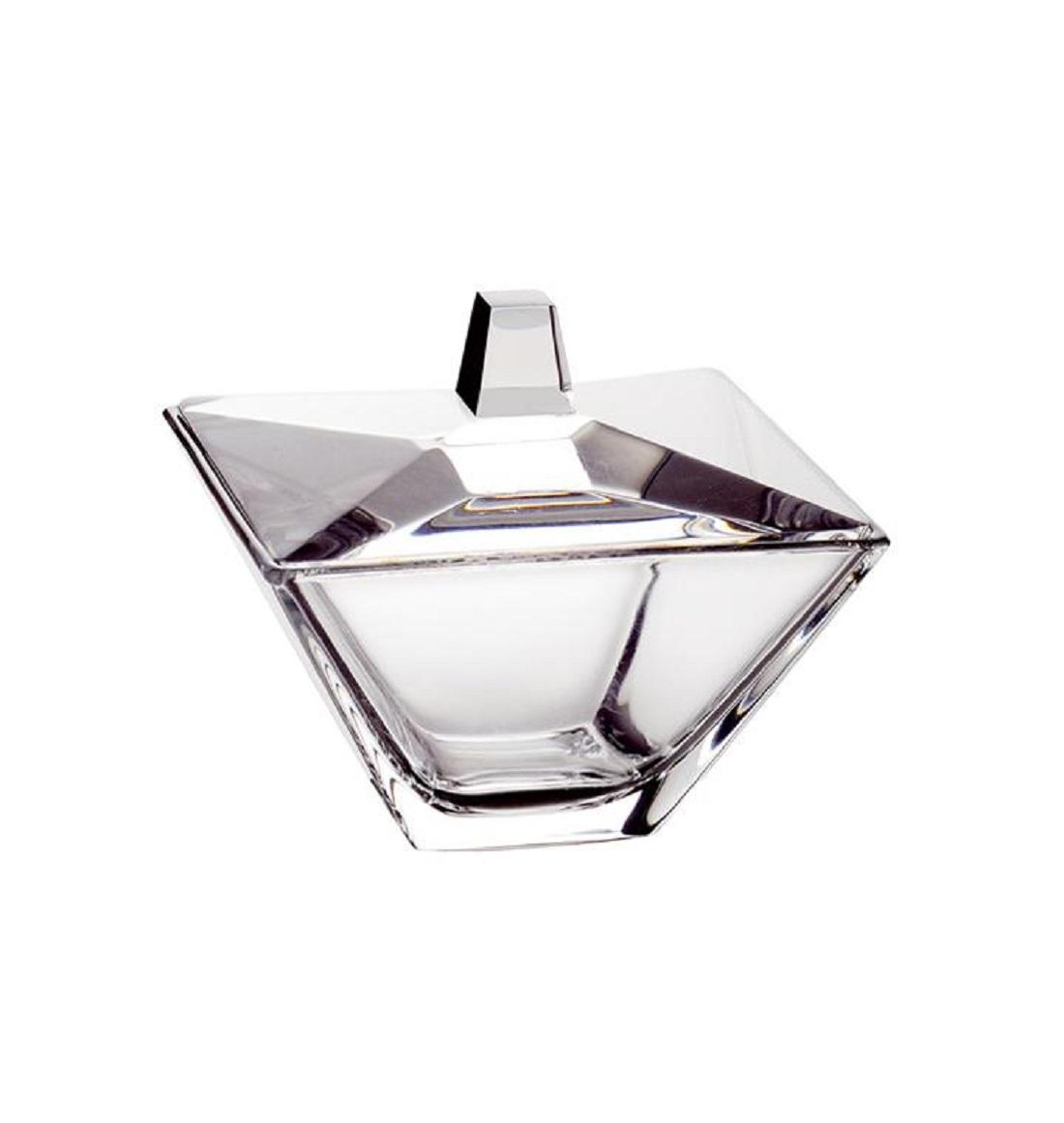 Онлайн каталог PROMENU: Конфетница с крышкой Vidivi TORCELLO, 14х14х12,5 см, стекло, прозрачный                               62970EM