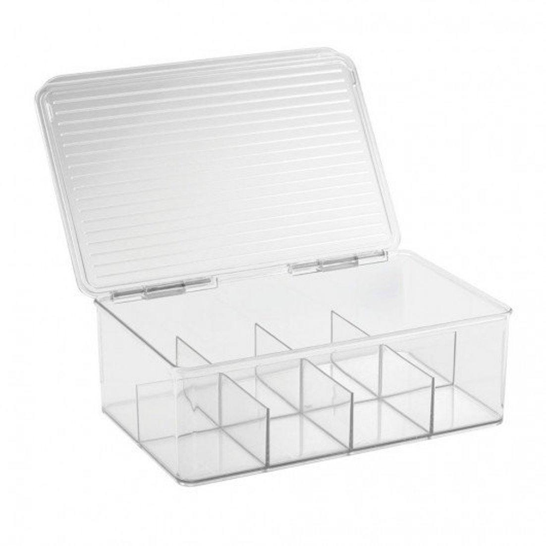 Онлайн каталог PROMENU: Контейнер для хранения чая (8 ячеек) iDesign CABINET/KITCHEN BINZ, 27,3х18,4х9,5 см, BPA-free пластик, прозрачный                               67830EU