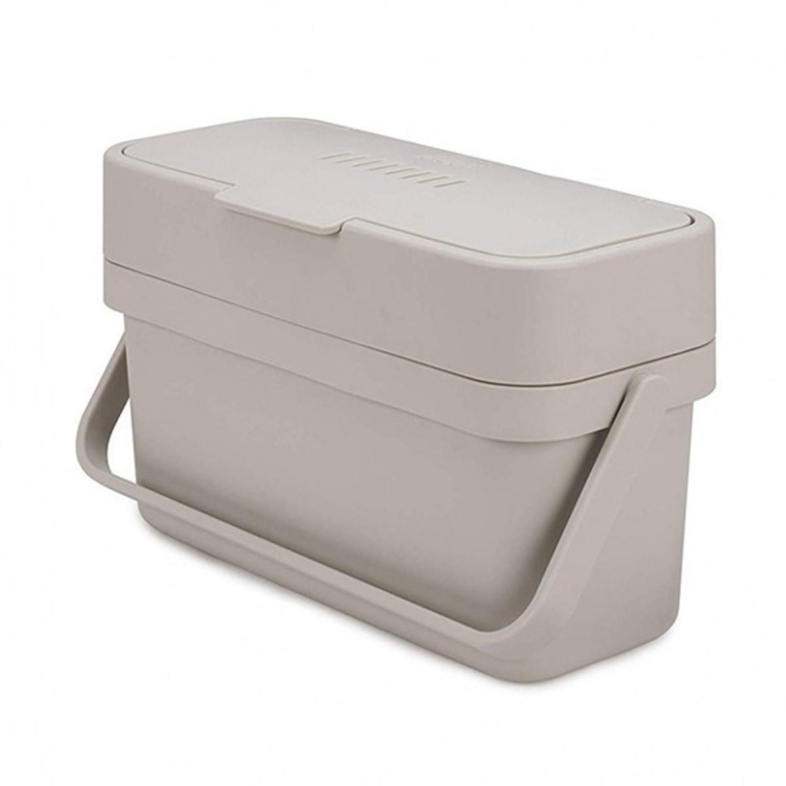 Онлайн каталог PROMENU: Контейнер для пищевых отходов с кронштейном для крепления Joseph Joseph COMPO 4, объем 4 л, 18x29,6x12,9 см, серый Joseph Joseph 30046