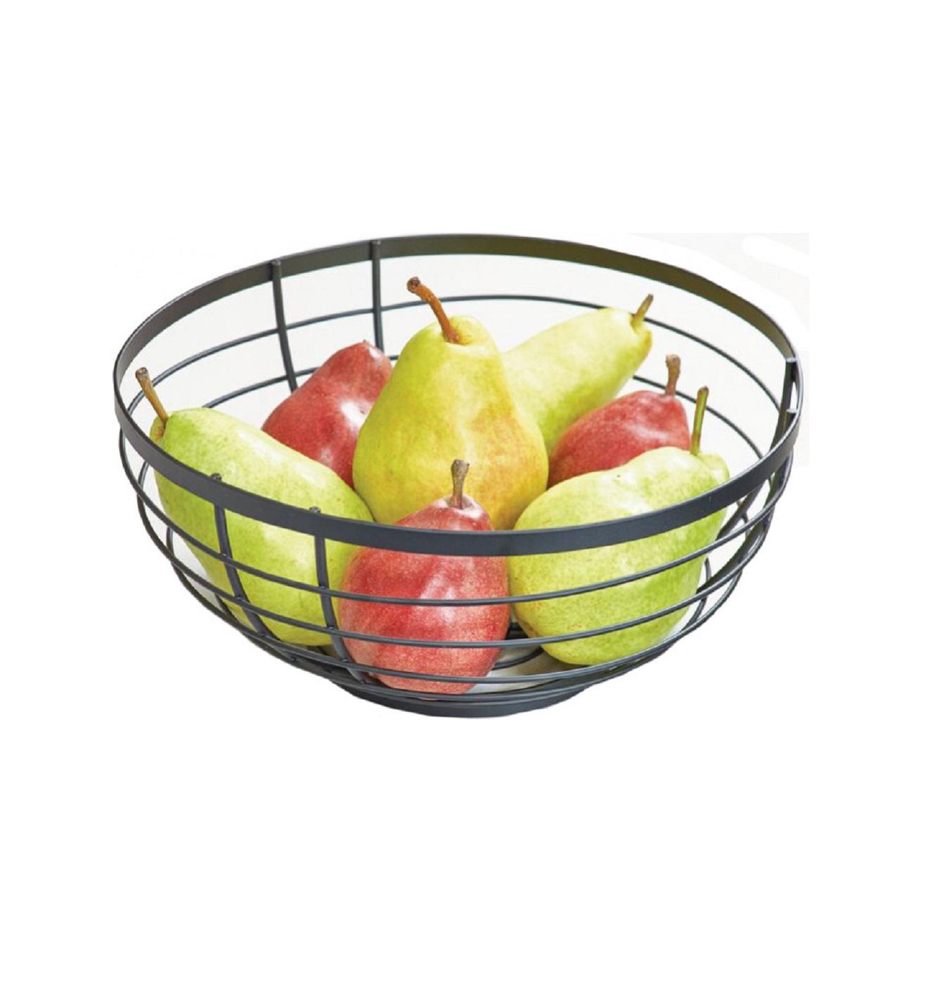 Онлайн каталог PROMENU: Корзина для фруктов iDesign AUSTIN, 27,3х27,3х12 см, черный Interdesign 51747EU