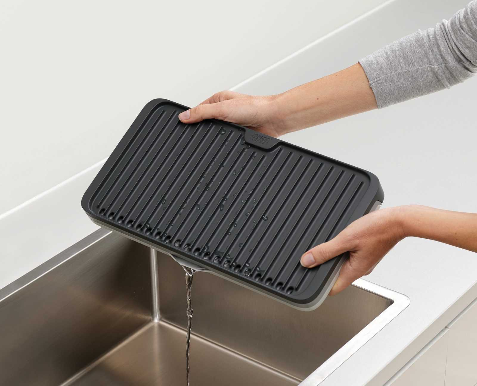 Коврик для сушки посуды раскладной Joseph Joseph Tier™, серый Joseph Joseph 85178 фото 2