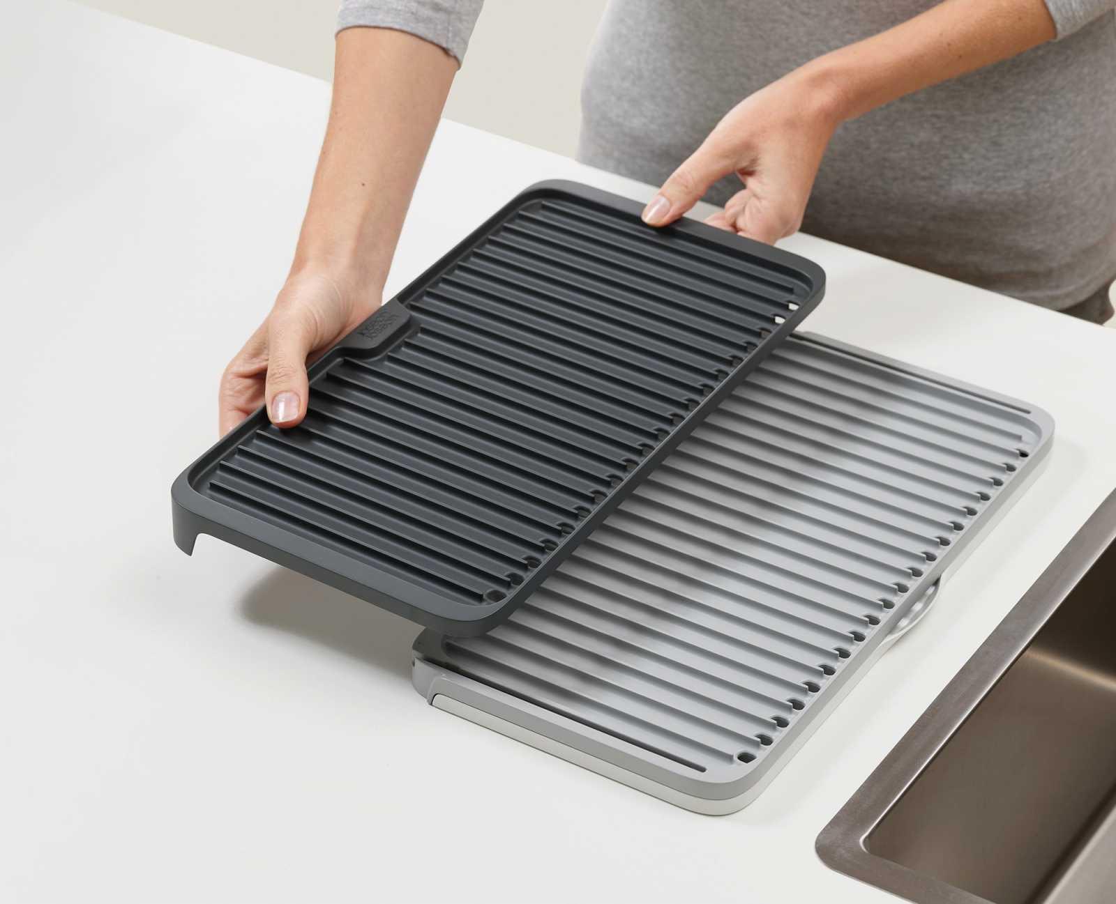 Коврик для сушки посуды раскладной Joseph Joseph Tier™, серый Joseph Joseph 85178 фото 4