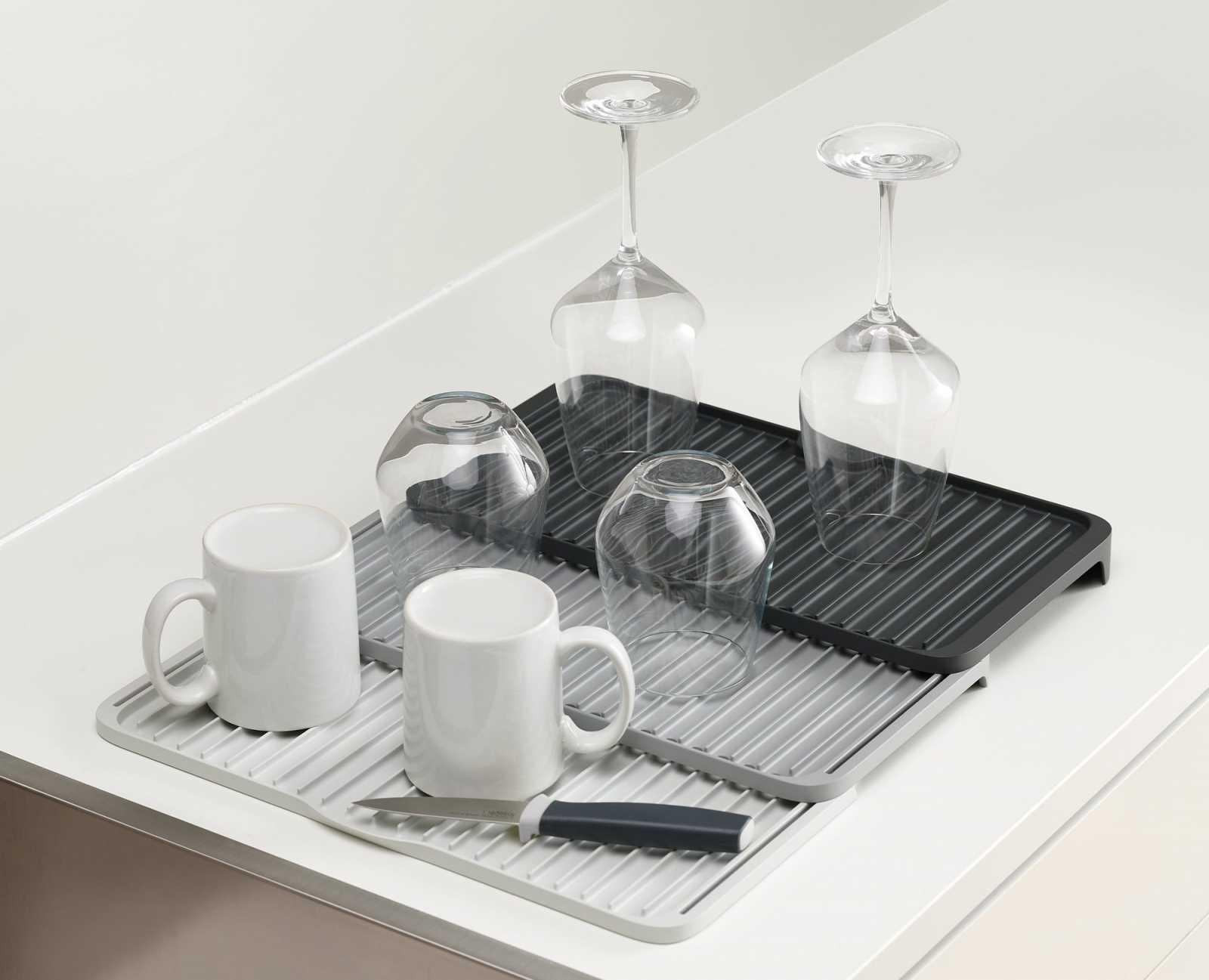 Коврик для сушки посуды раскладной Joseph Joseph Tier™, серый Joseph Joseph 85178 фото 1