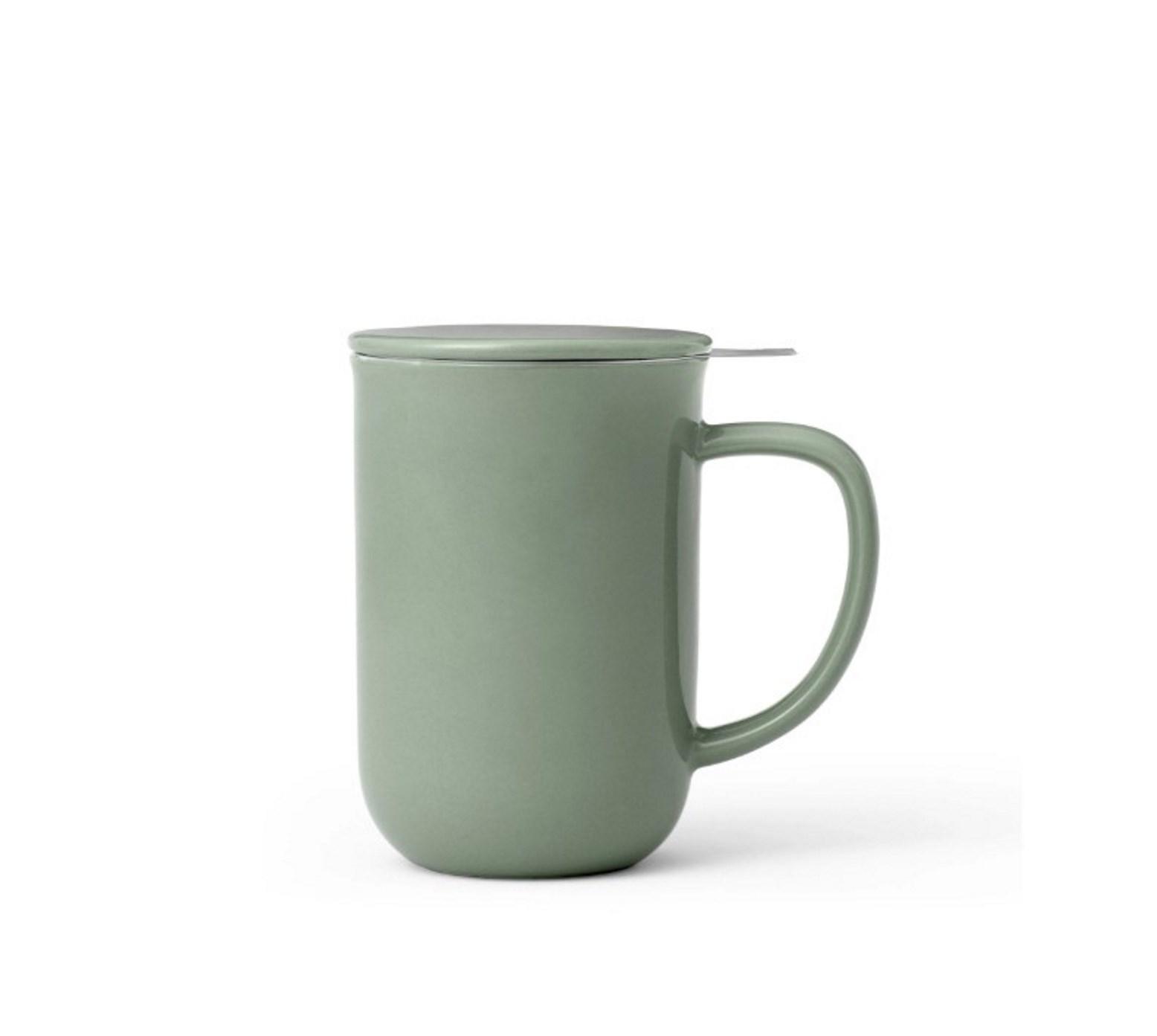 Онлайн каталог PROMENU: Кружка для чая с ситечком Viva Scandinavia MINIMA Stone green, объем 0,55 л, зеленый                               V77546