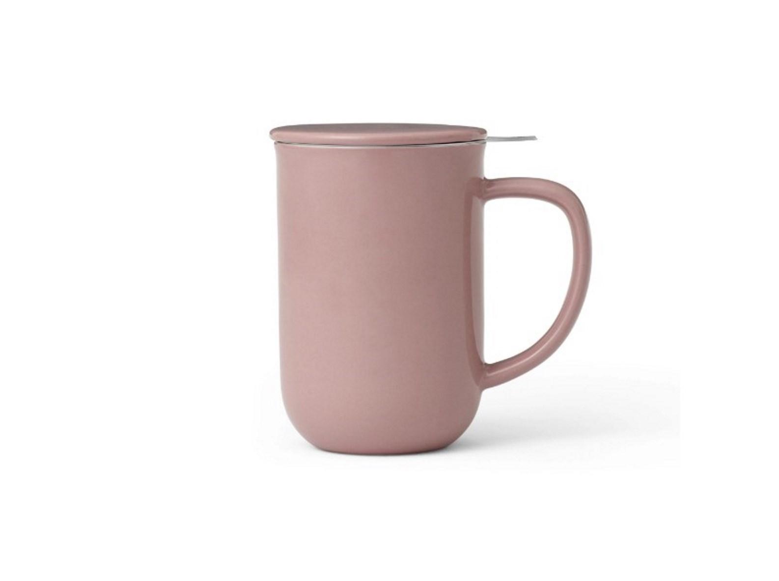 Онлайн каталог PROMENU: Кружка для чая с ситечком Viva Scandinavia MINIMA Stone rose, объем 0,55 л, розовый                               V77550