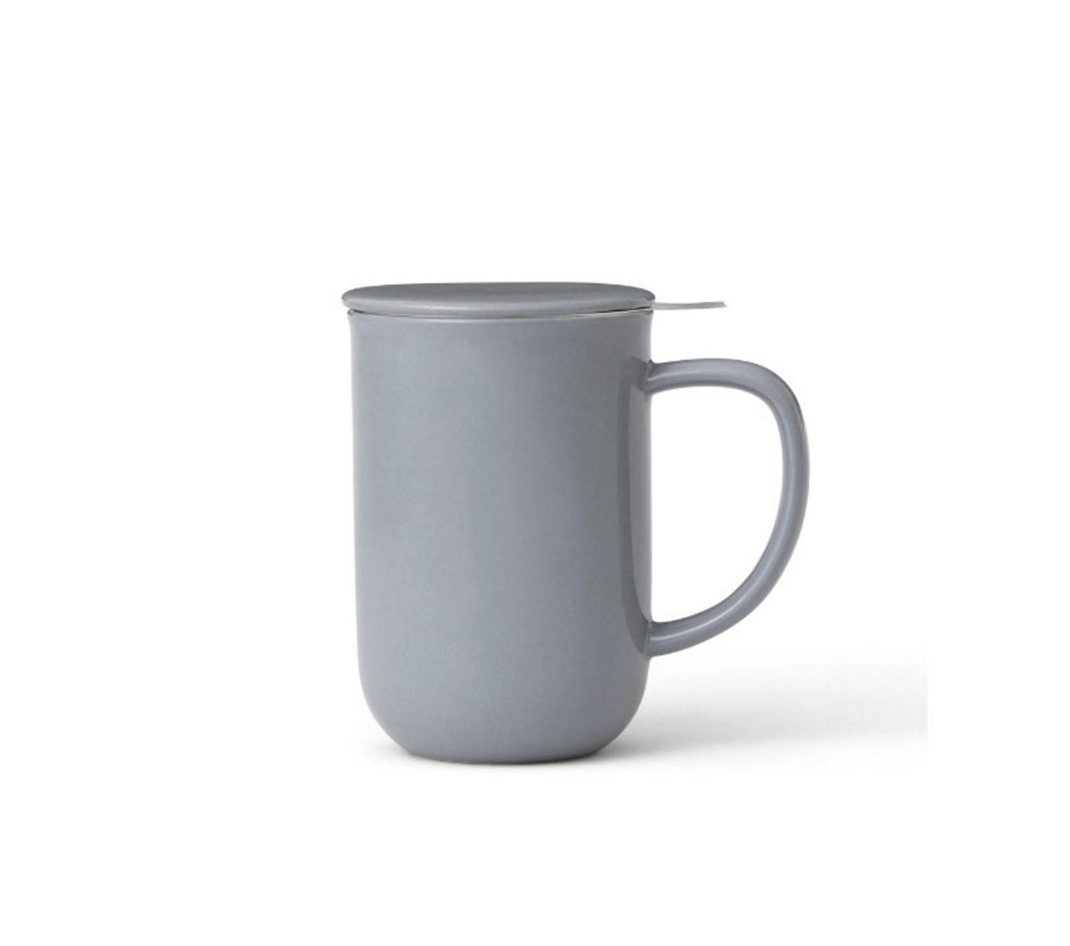 Онлайн каталог PROMENU: Кружка для чая с ситечком Viva Scandinavia MINIMA Sea salt, объем 0,55 л, светло-серый                               V77554