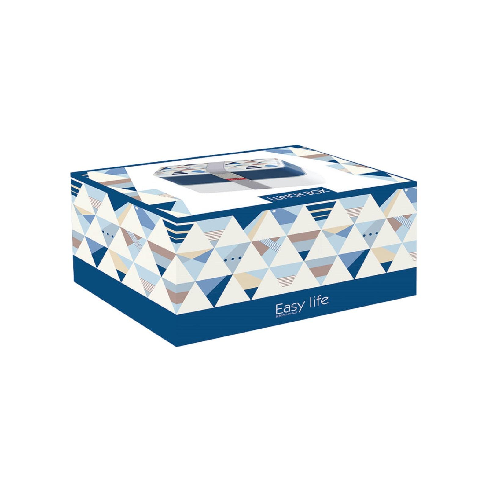 Ланч-бокс Easy Life, объем 1,2 л, 18,5x10,5x10 см, белый с синим Easy Life 2500 GEO1 фото 1