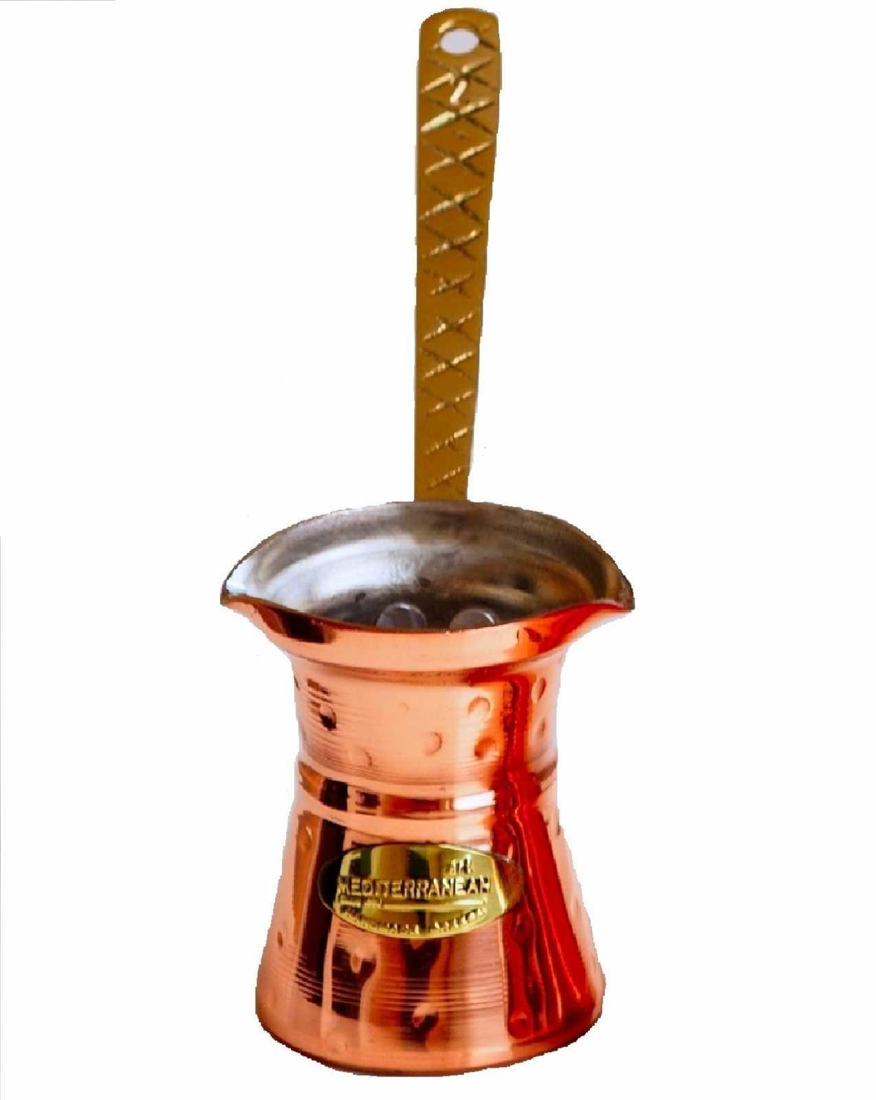 Онлайн каталог PROMENU: Джезва медная для приготовления кофе Mediterranean Art, объем 250 мл, медный Kavounis Leonidas O.E. 3004