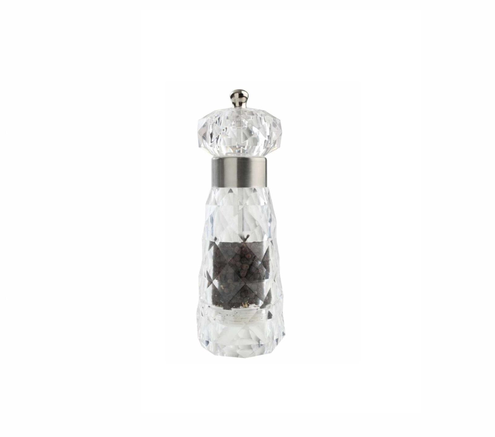 Мельница для перца T&G DIAMOND, высота 18 см, прозрачный T&G 12908 фото 1