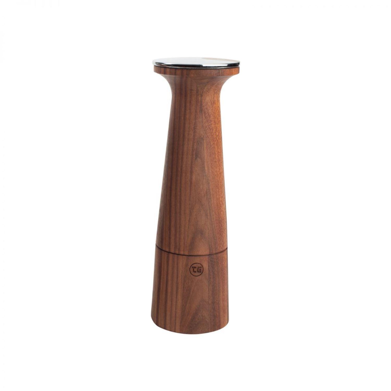 Онлайн каталог PROMENU: Мельница для соли T&G OBLIQUE, высота 20,5 см, темно-бежевый с темным рисунком T&G 11655