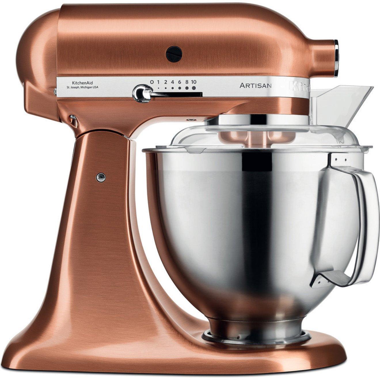 Онлайн каталог PROMENU: Миксер планетарный KitchenAid Artisan, объем чаши 4,83 л, мощность 300 Вт, медный                               5KSM185PSECP