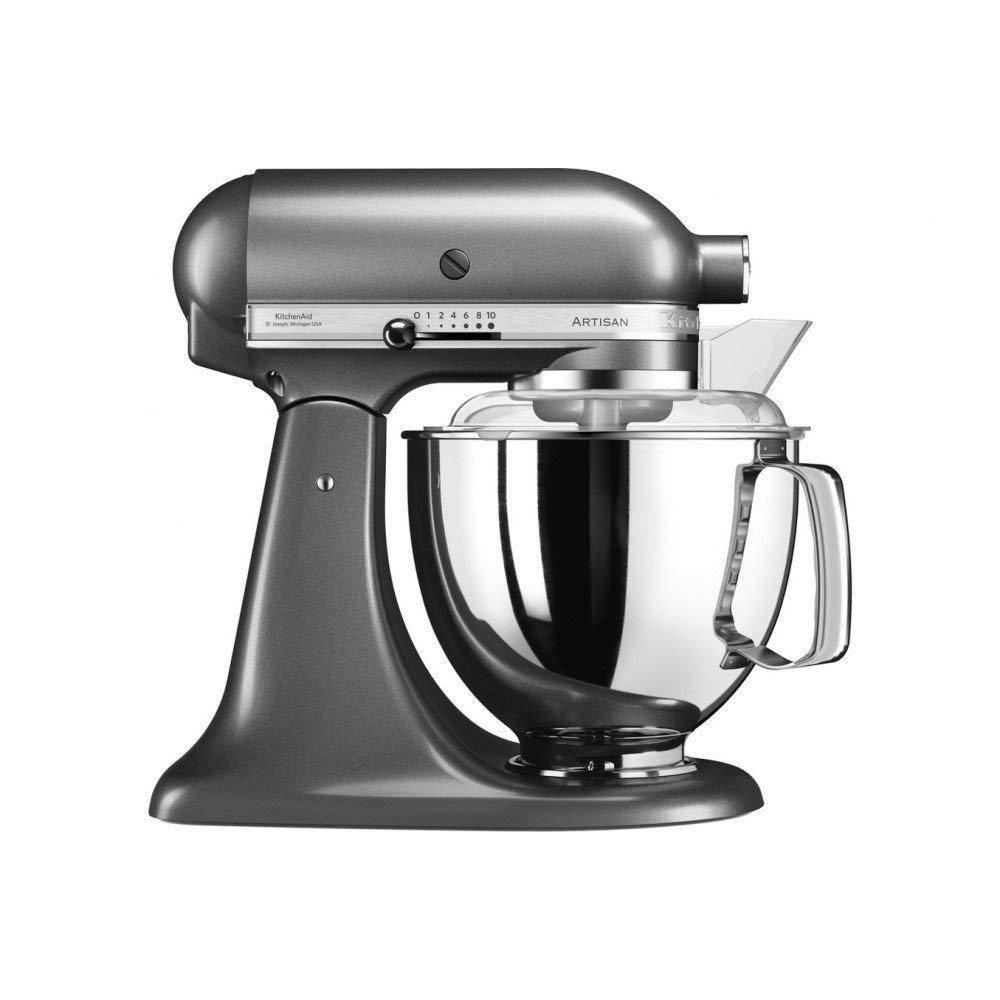 Онлайн каталог PROMENU: Миксер планетарный KitchenAid Artisan, объем чаши 4,83 л, серый                               5KSM175PSEMS