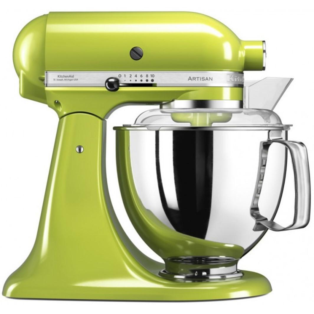 Онлайн каталог PROMENU: Миксер планетарный KitchenAid Artisan, объем чаши 4,83 л, зеленое яблоко                               5KSM175PSEGA