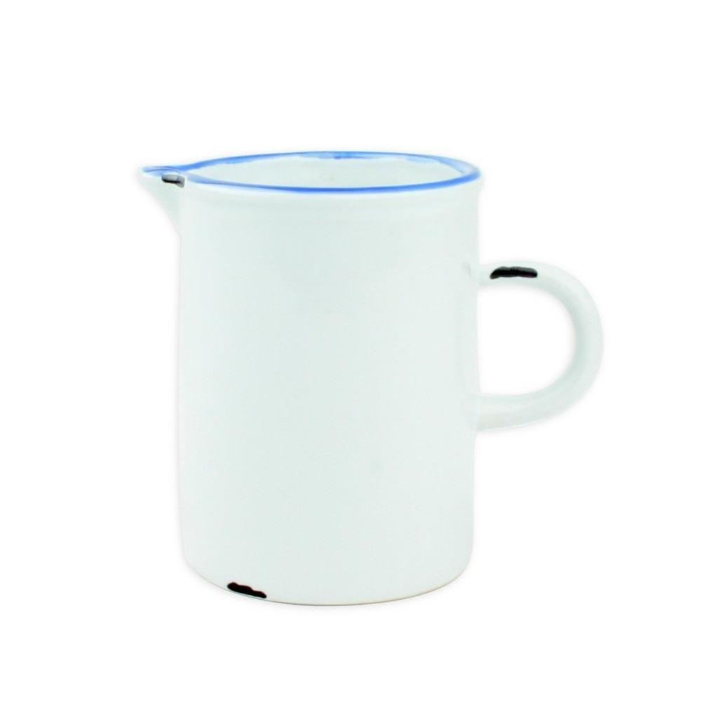 Онлайн каталог PROMENU: Молочник с синей окантовкой Canvas Home Tinware, диаметр 6,4 см, висота 8,3 см, белый                               C28-CR-WH