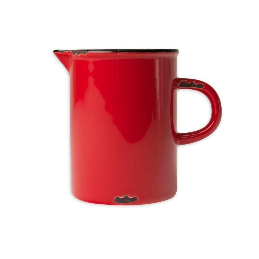 Онлайн каталог PROMENU: Молочник с черной окантовкой Canvas Home Tinware, диаметр 6,4 см, висота 8,3 см, красный                               C28-CR-RD