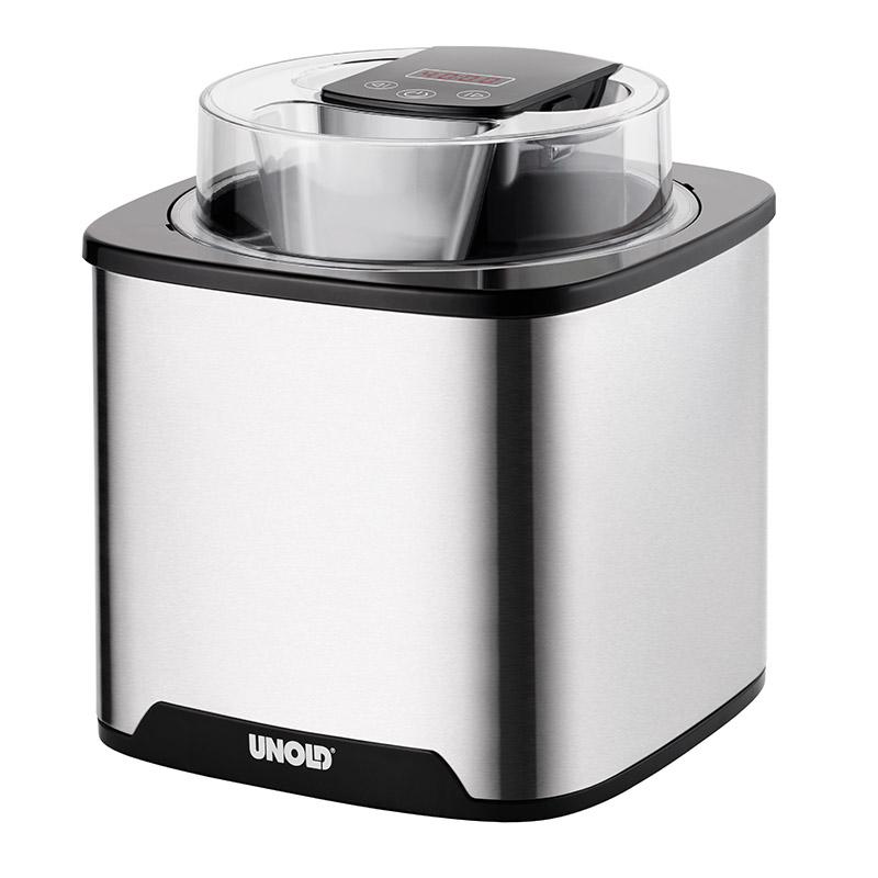 Онлайн каталог PROMENU: Мороженица электрическая Unold  ICE CREAM MAKER Gelato, объем 1,5 л, серебристый Unold 48855