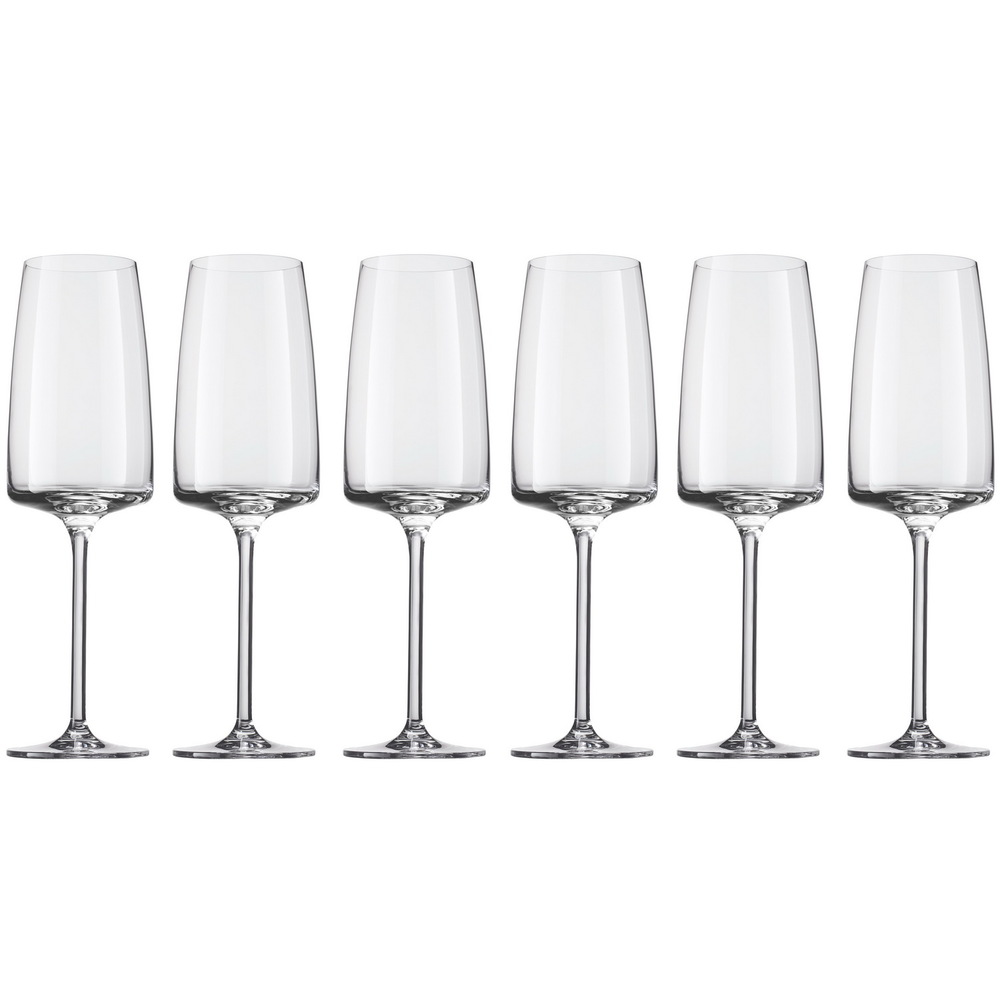 Онлайн каталог PROMENU: Набор бокалов для шампанского Schott Zwiesel Sensa, объем 0,388л, 6 шт.                                   120591_6шт