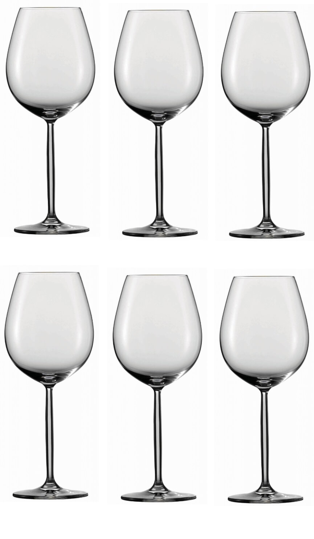Онлайн каталог PROMENU: Набор бокалов для красного вина/воды  Schott Zwiesel Diva,  объем 0,613 л, 6 шт.                               104096_6шт