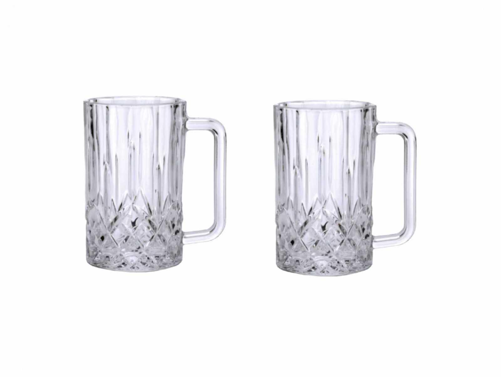 Онлайн каталог PROMENU: Набор бокалов для пива с ручкой Aida HARVEY, объем 0,5 л, 14х19,5 см, прозрачный, 2 штуки                               80317