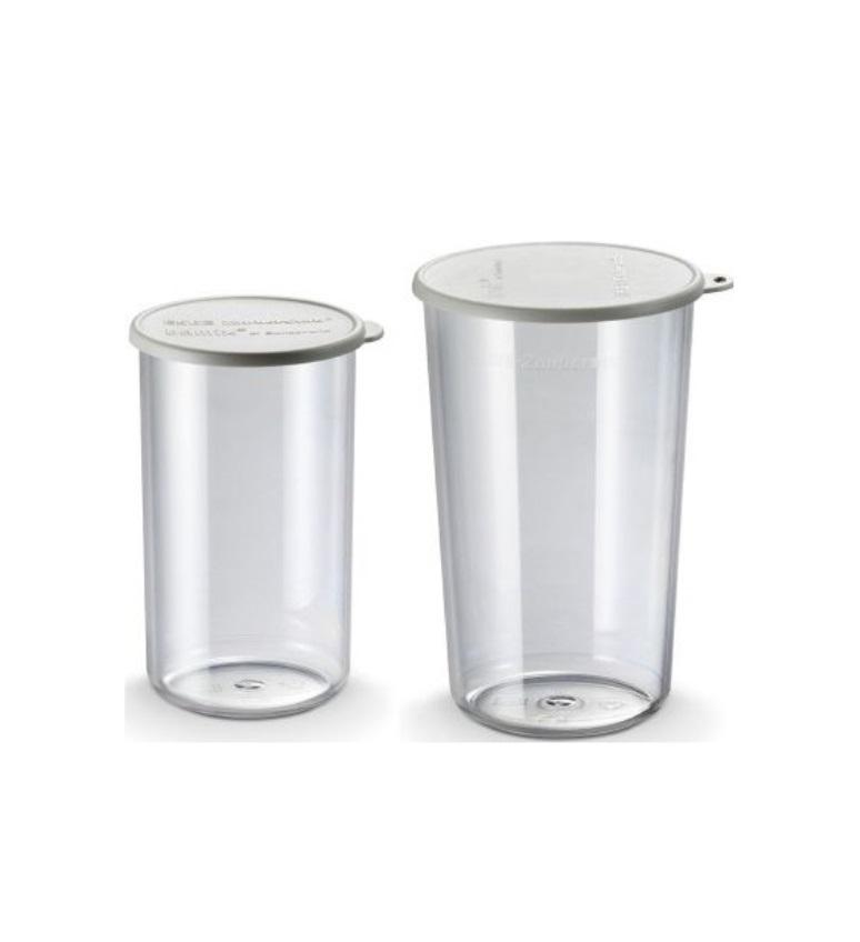 Онлайн каталог PROMENU: Набор пластиковых мерных чаш с серыми крышками 0,4 л и 0,6 л BAMIX, 2 предмета                               450.006