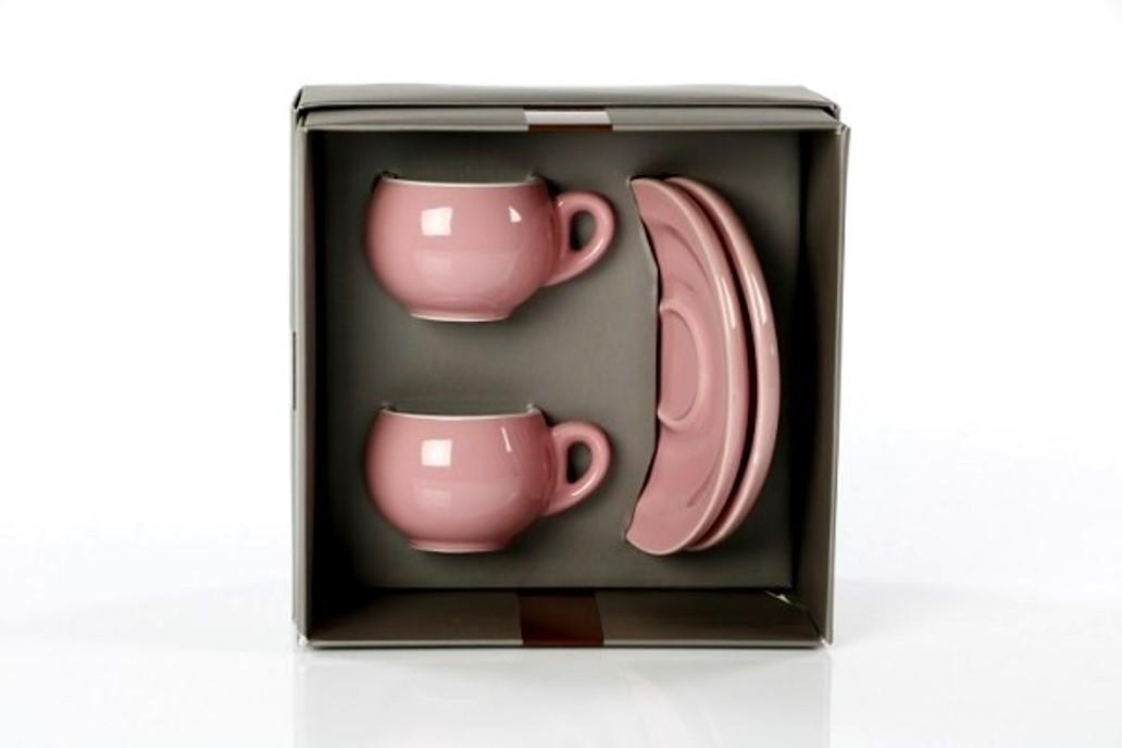 Онлайн каталог PROMENU: Набор из 2 чашек и 2 блюдец Danesi, 4 предмета, розовый Danesi 3010675