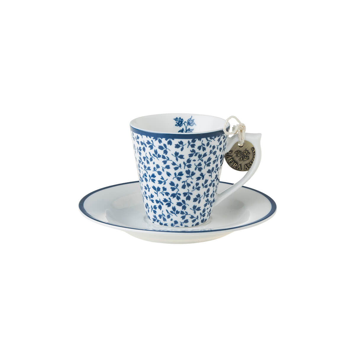 Онлайн каталог PROMENU: Набор: чашка с блюдцем эспрессо Laura Ashley BLUEPRINT, белый в синий мелкий цветок Laura Ashley 178693