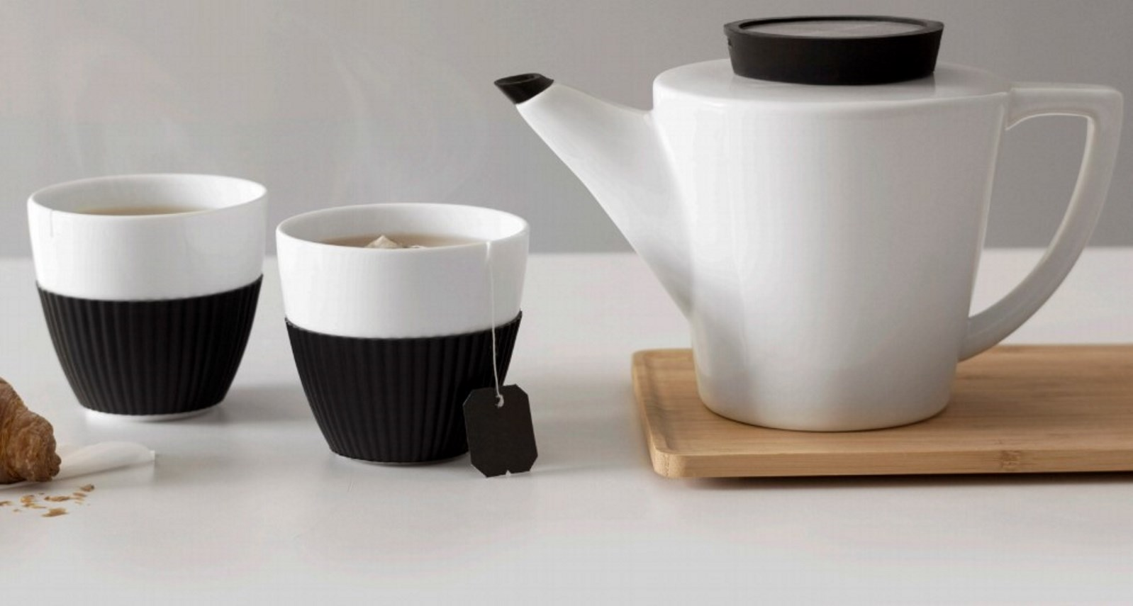 Чайный набор: чайник и 2 чашки Viva Scandinavia INFUSION, объем: 1 л/0,25 л, бежевый, 3 предмета Viva Scandinavia V24121 фото 4