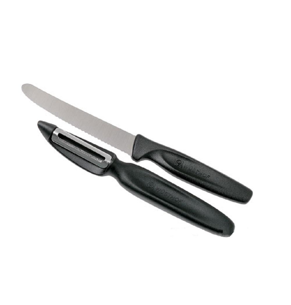 Онлайн каталог PROMENU: Набор для очистки и нарезки овощей Wuesthof COLOURFUL, черный, 2 предмета                                   9314-3