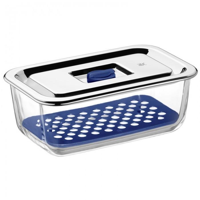 Набор емкостей с крышками для продуктов WMF, прозрачный с синим, 3 предмета WMF 06 5424 9999PROMO фото 2