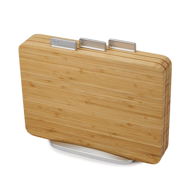 Онлайн каталог PROMENU: Набор: 3 разделочные деревянные доски с подставкой Joseph Joseph CHOPPING BOARDS, 35х29,5 см, бежевый                               60141