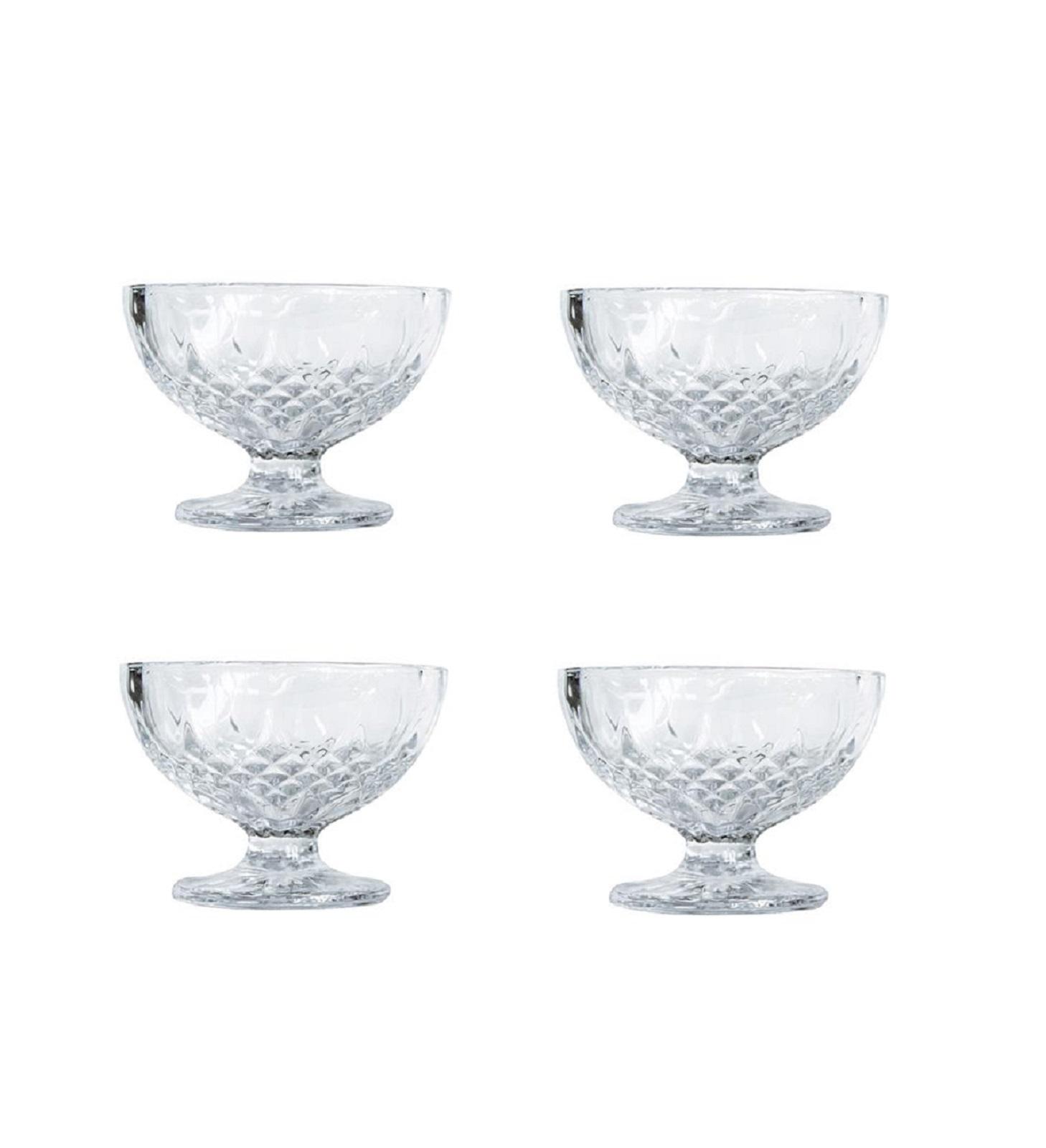 Онлайн каталог PROMENU: Набор креманок для десерта Aida HARVEY, диаметр 10,5 см, высота 8 см, прозрачный, 4 штуки                               80342