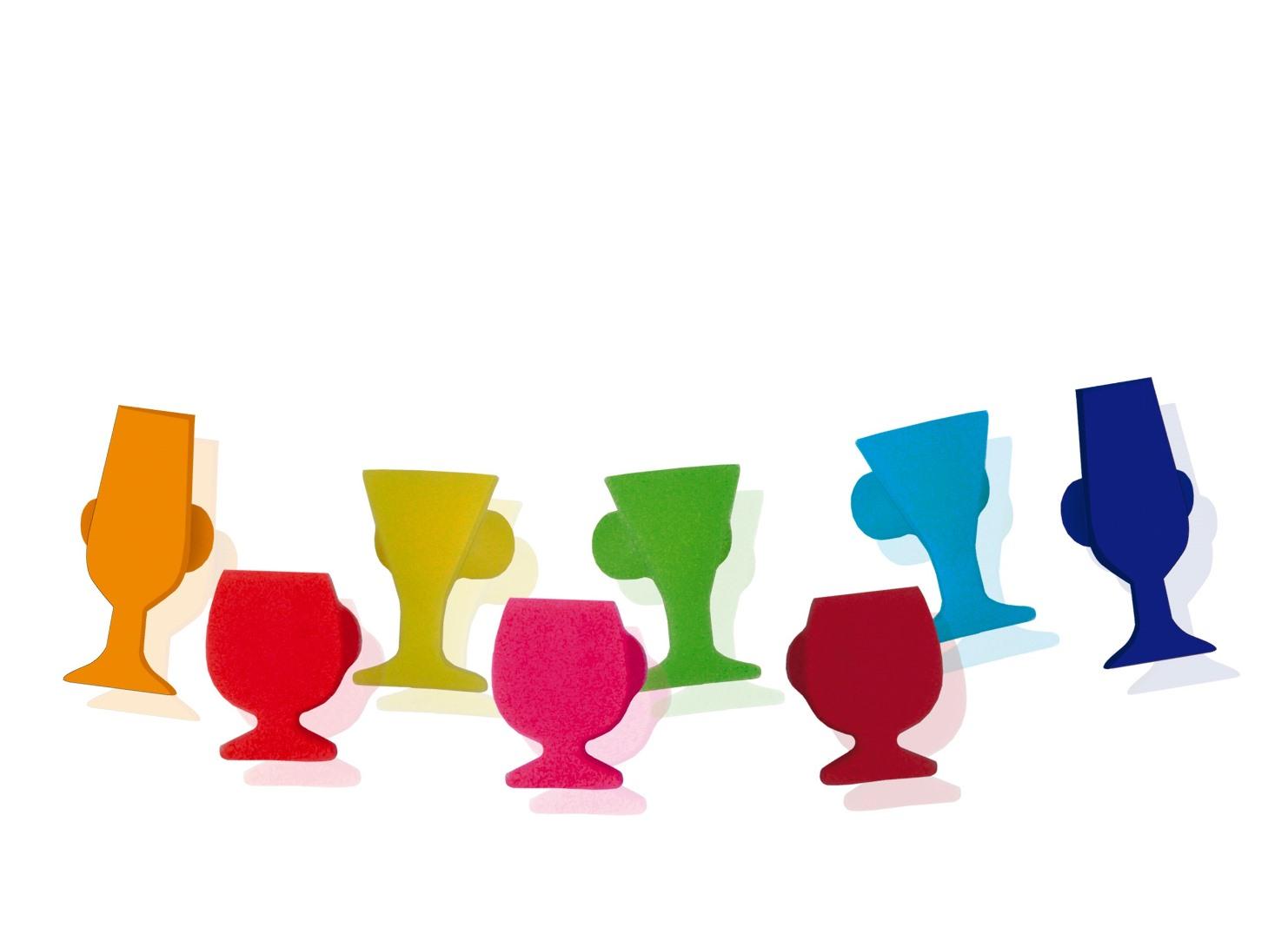 Онлайн каталог PROMENU: Набор разноцветных маркеров на бокалы в виде бокалов VinBouquet TO SERVE, 8 штук                                   FIA 029