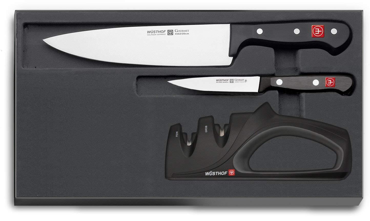 Онлайн каталог PROMENU: Набор: 2 ножа и точилка Wuesthof GOURMET, 3 предмета                               9654-1