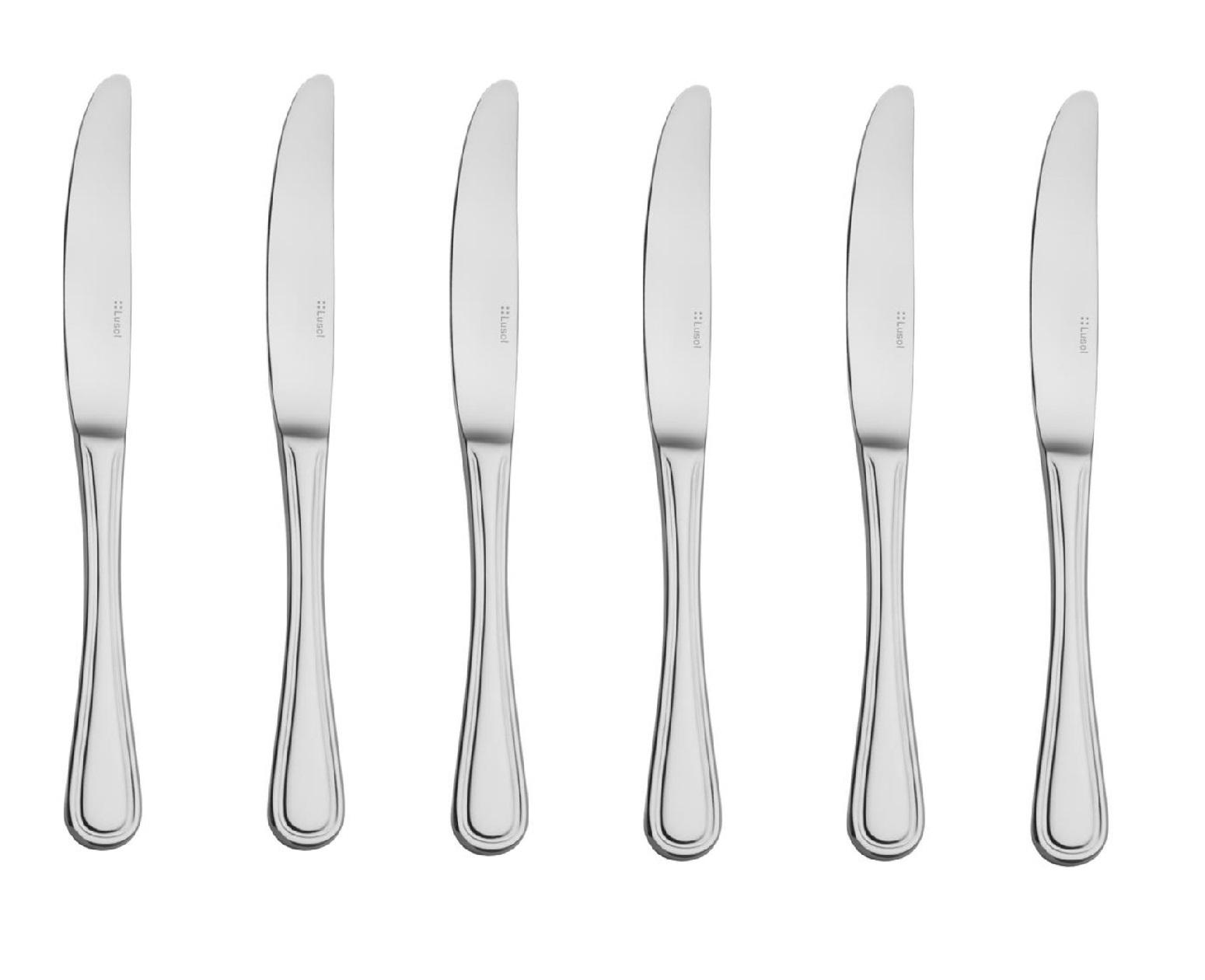Набор ножей столовых Lusol AVALON, длина 23,4 см, серебристый, 6 штук Lusol 132022 фото 0