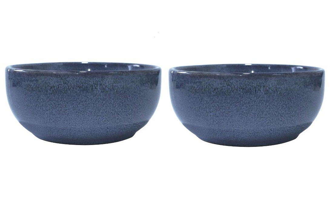 Онлайн каталог PROMENU: Набор пиал Aida SOHOLM SONJA, диаметр 14 см, керамика, синий, 2 штуки                                   16287