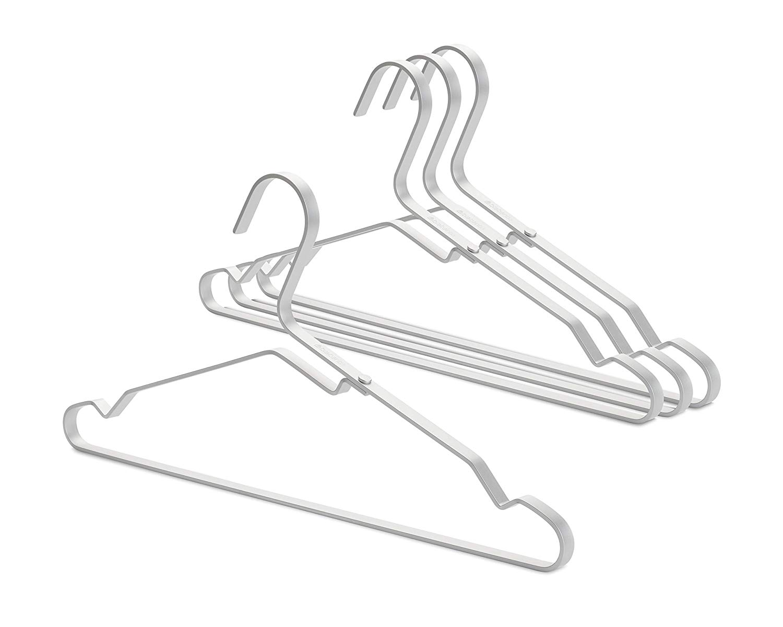 Онлайн каталог PROMENU: Набор плечиков для одежды Brabantia, алюминий, серебристый, 4 штуки                               118661